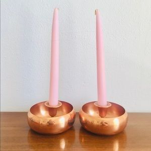 Mcm taunton mass coppercraft guild candle holders